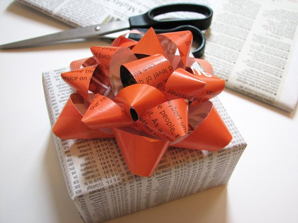 homemade gift bow
