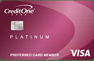 Credit One Bank Unsecured Visa with Cash Back Rewards credit card