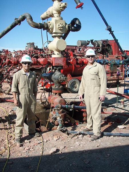 Workers at the Bakken Oil Fields, the heart of North Dakota's fracking boom.