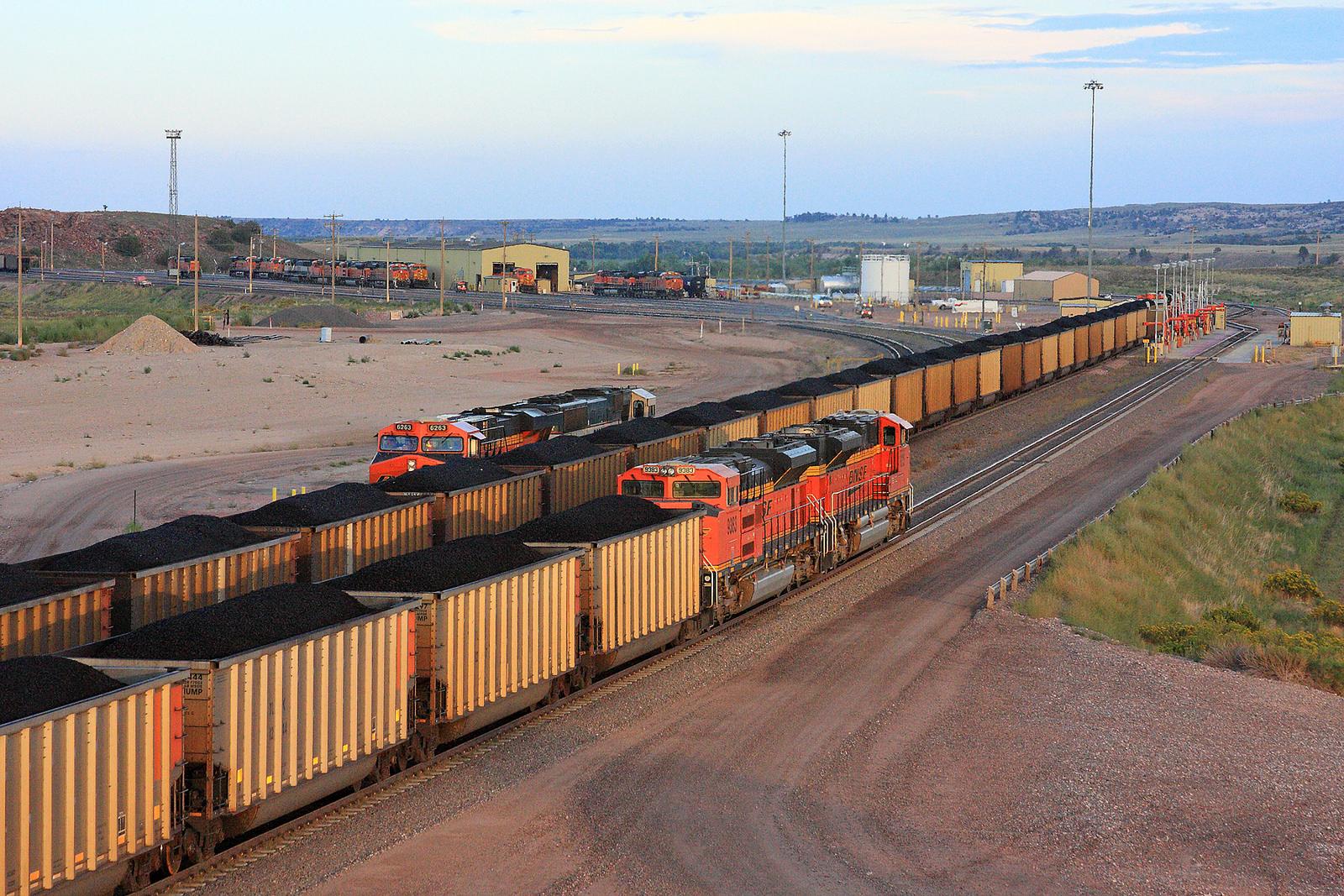 Coal-laden train crossing Wyoming.