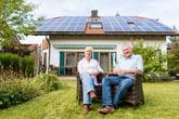 Senior couple with solar