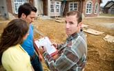 Contractor with homeowners