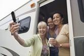 Women traveling by RV