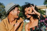 couple with doughnut