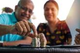 Seniors counting money