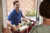 Driver delivering groceries
