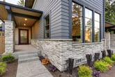 Exterior of a house with stone veneer