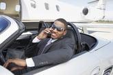 Rich man in a car