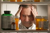 a man is upset about high prescription drug prices