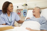 Happy patient in the hospital