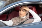 Worried car driver