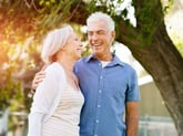 Happy senior couple enjoying retirement