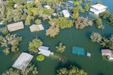 Homes in a flood