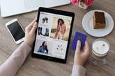 Woman shopping on Amazon