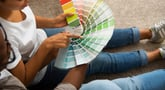 Couple picking a paint color for their home