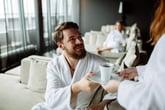 Guest in luxury hotel