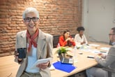 Senior businesswoman in a meeting at work