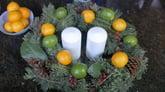 Christmas decoration made with lemons