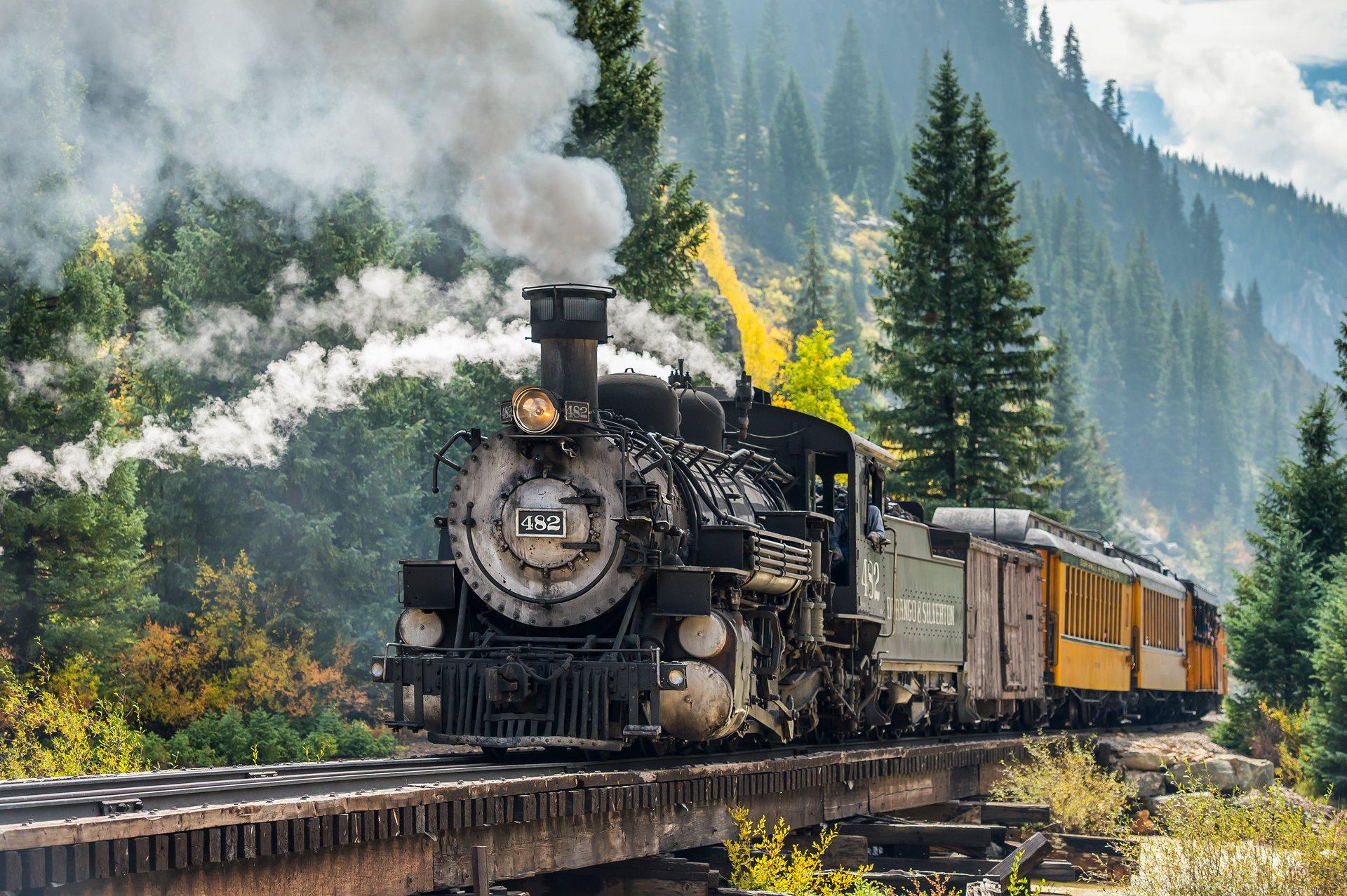 A train on the Durango & Silverton Narrow Gauge Railroad