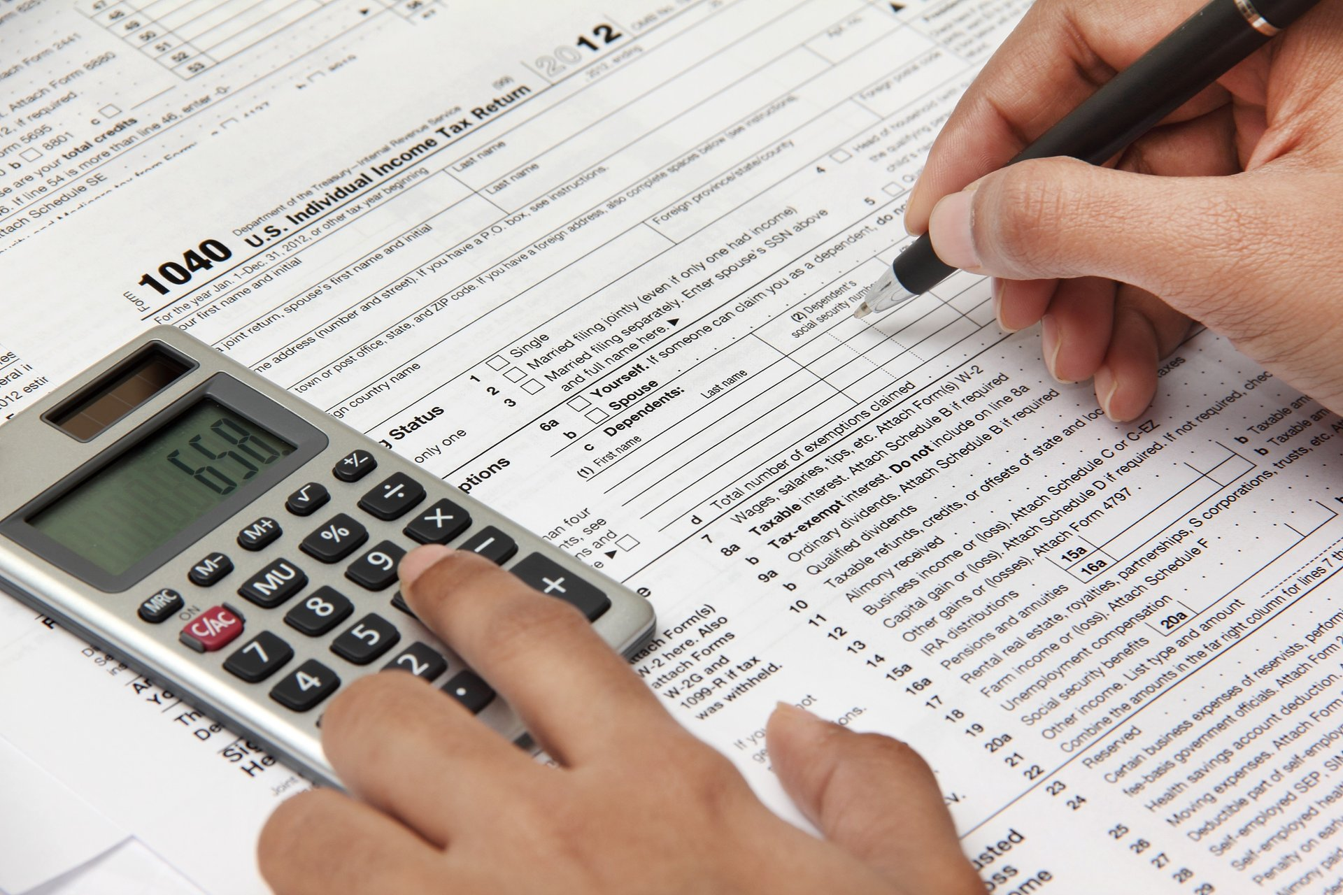 filing federal income taxes