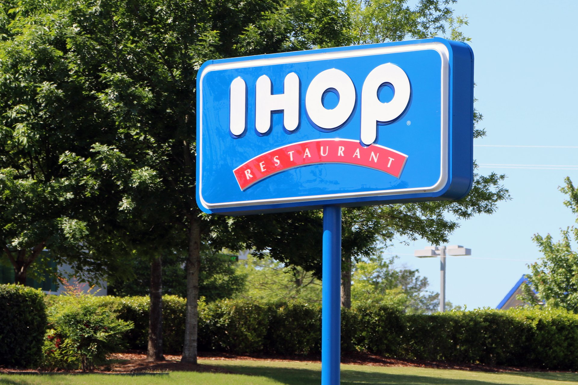 An IHOP restaurant sign in Nashville, Tennessee