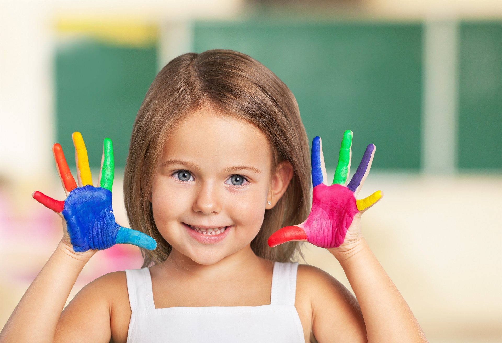 Many art galleries offer activities that allow the kids to try their own hand at painting (or even, as pictured above, try painting their own hands).