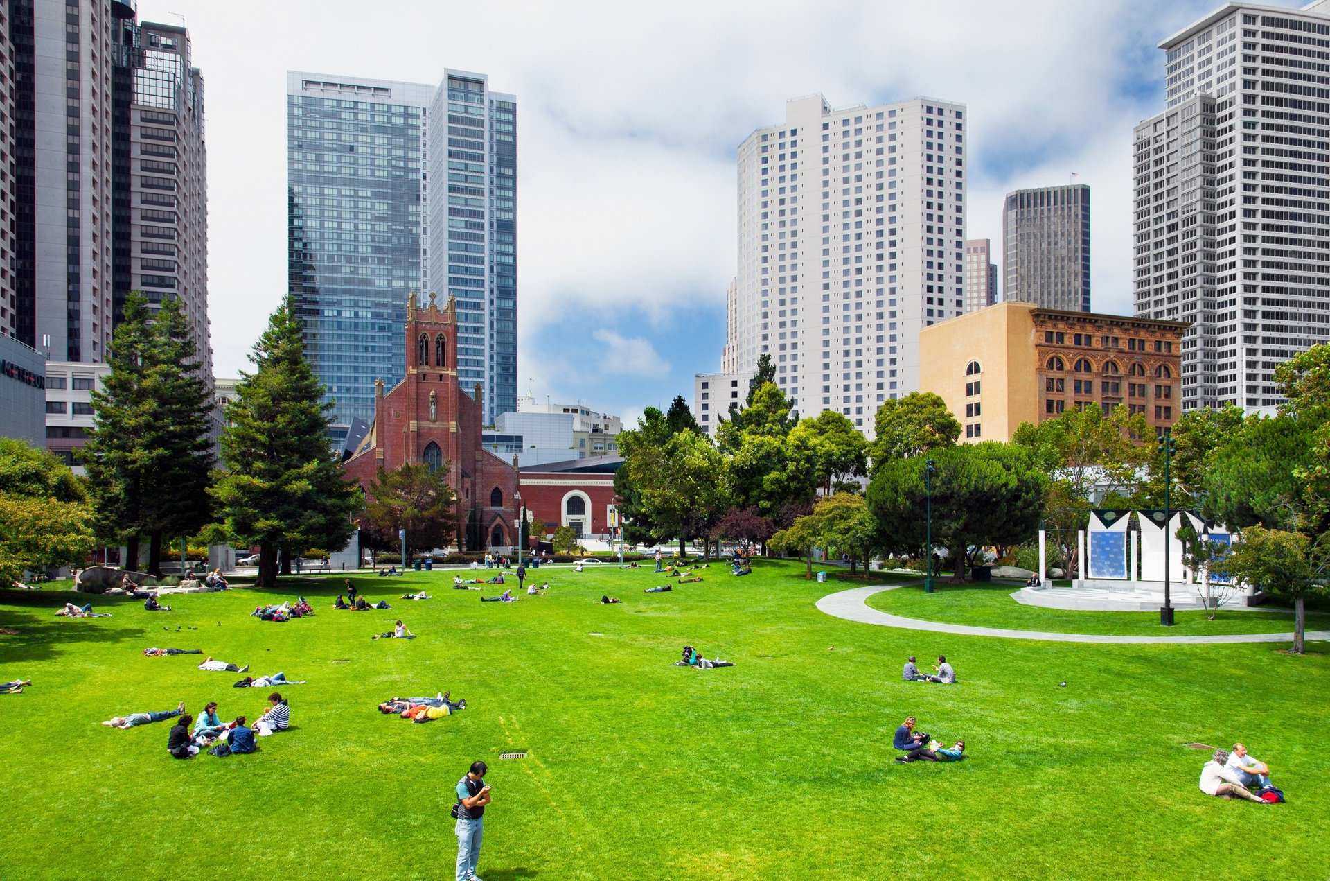 Open park area in San Francisco