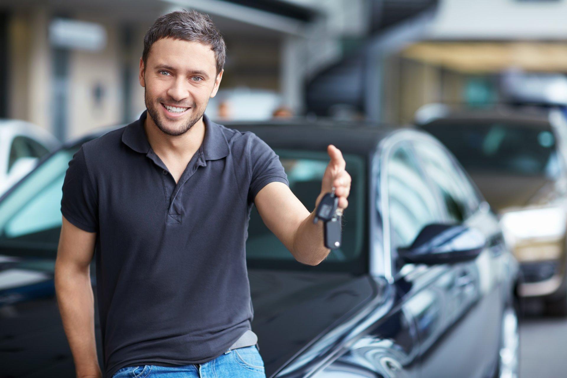 Man selling car