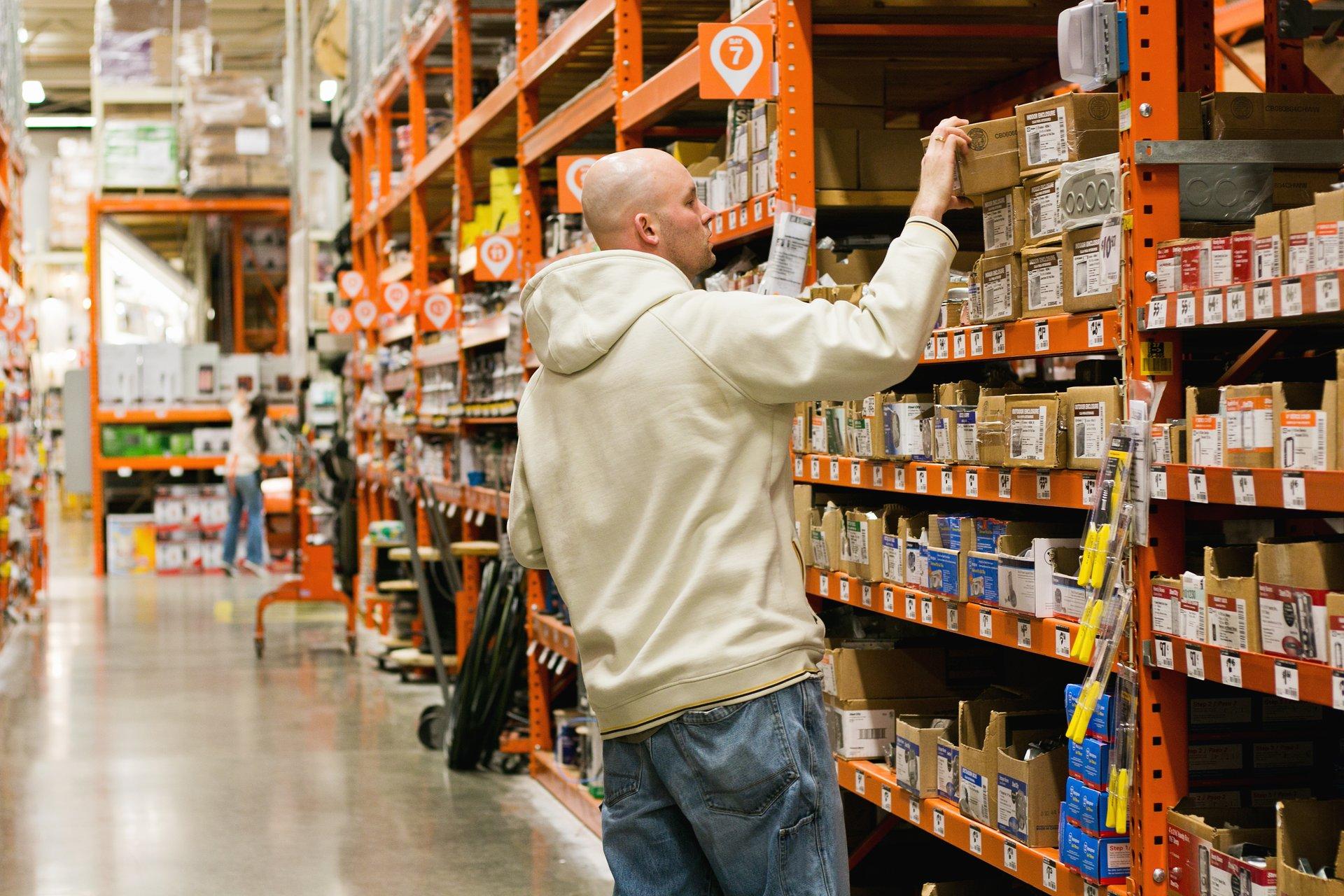 Shopper at Home Depot