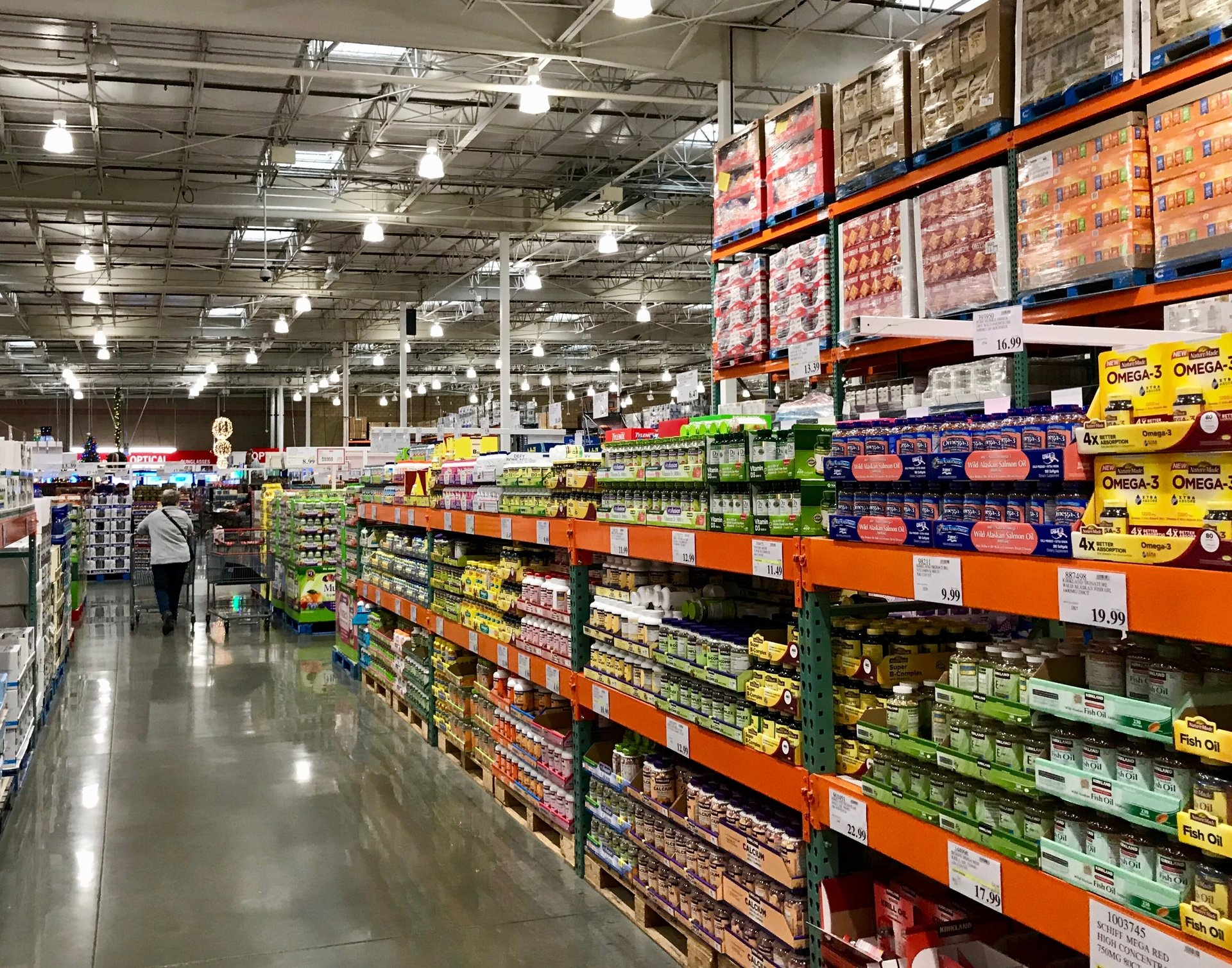 Over-the-counter medication and supplements at Costco