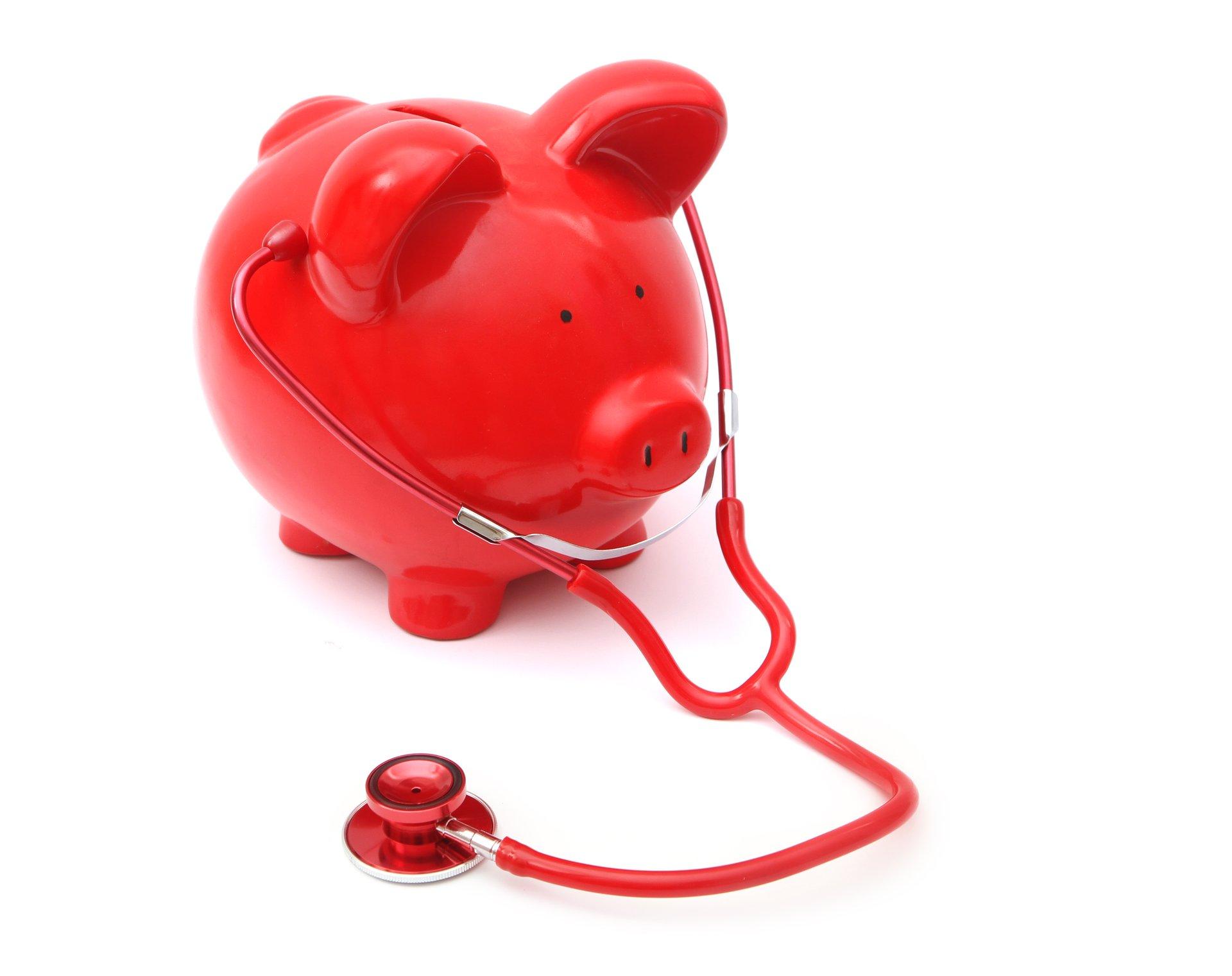 Piggy Bank w Stethoscope