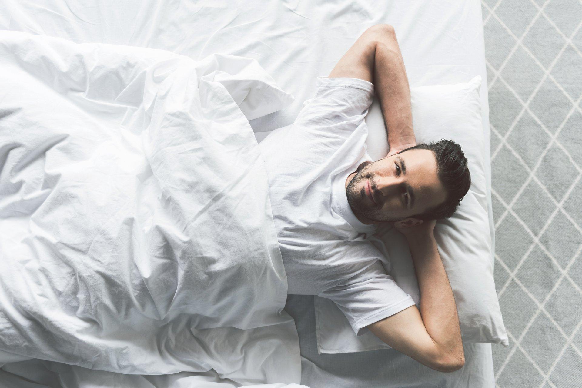 relaxing in bed