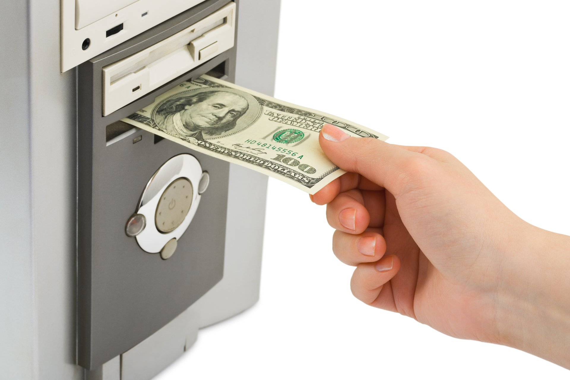 Withdrawing money