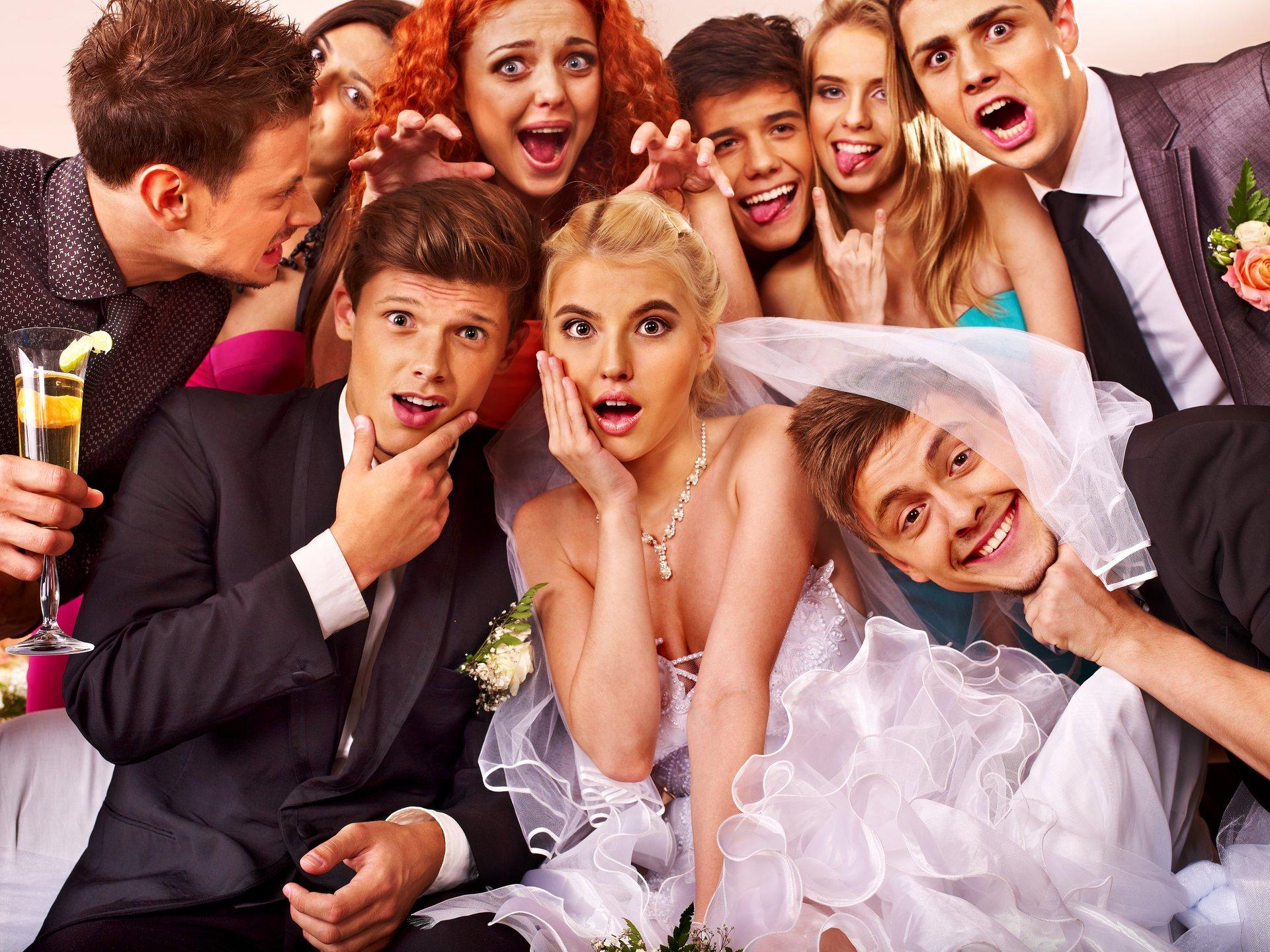 Goofy wedding picture