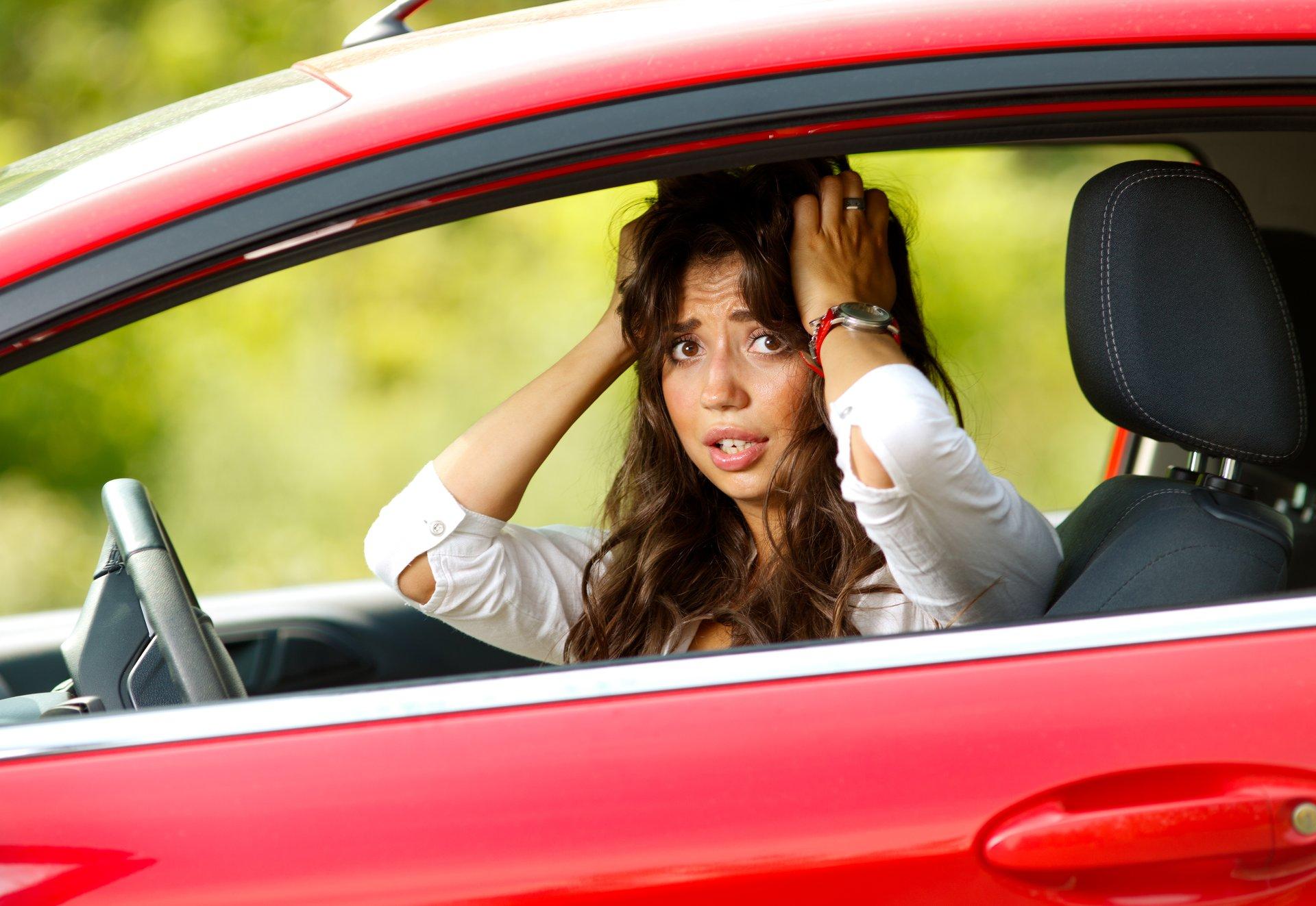 Unhappy driver