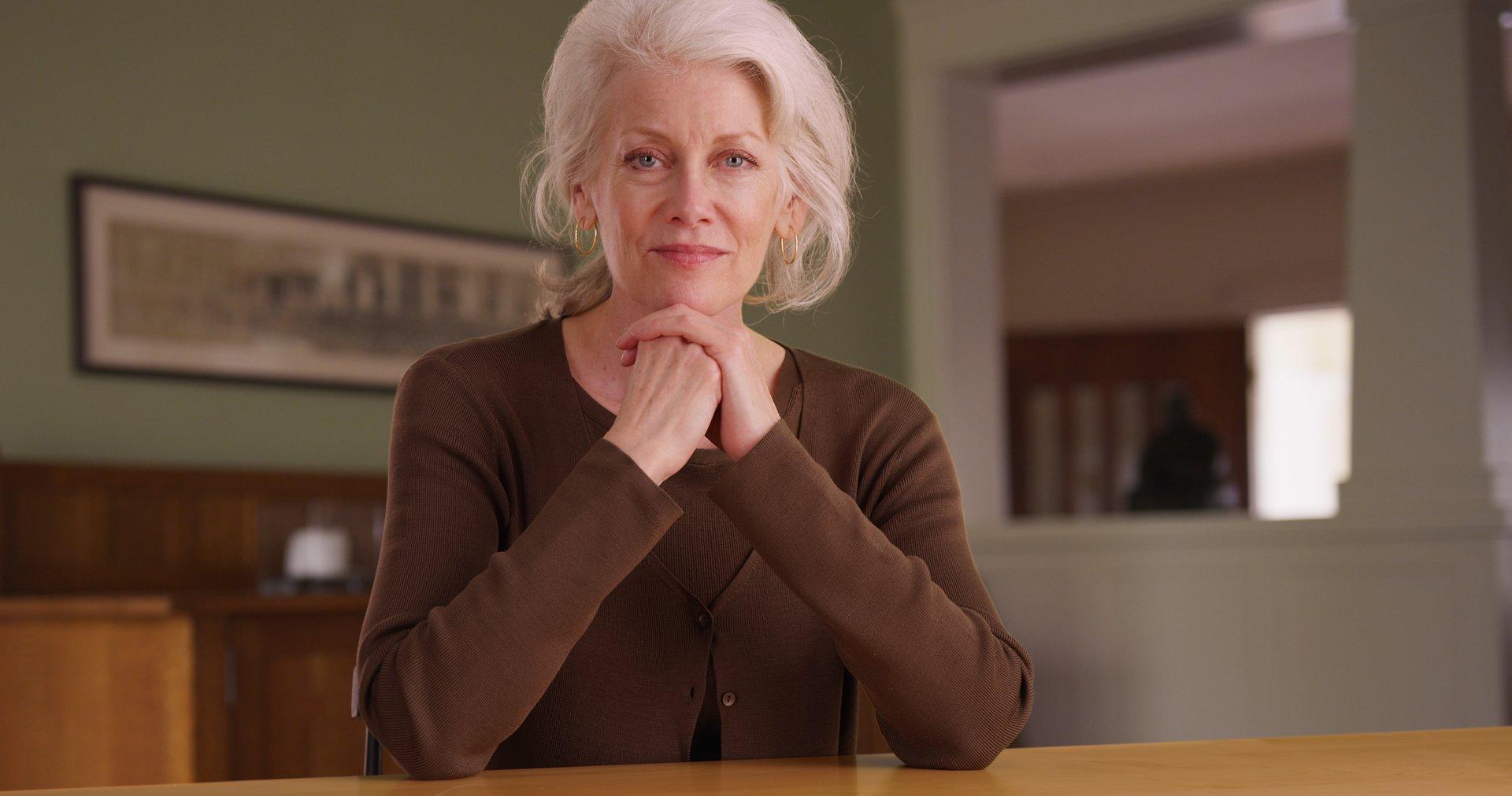 Senior woman homeowner