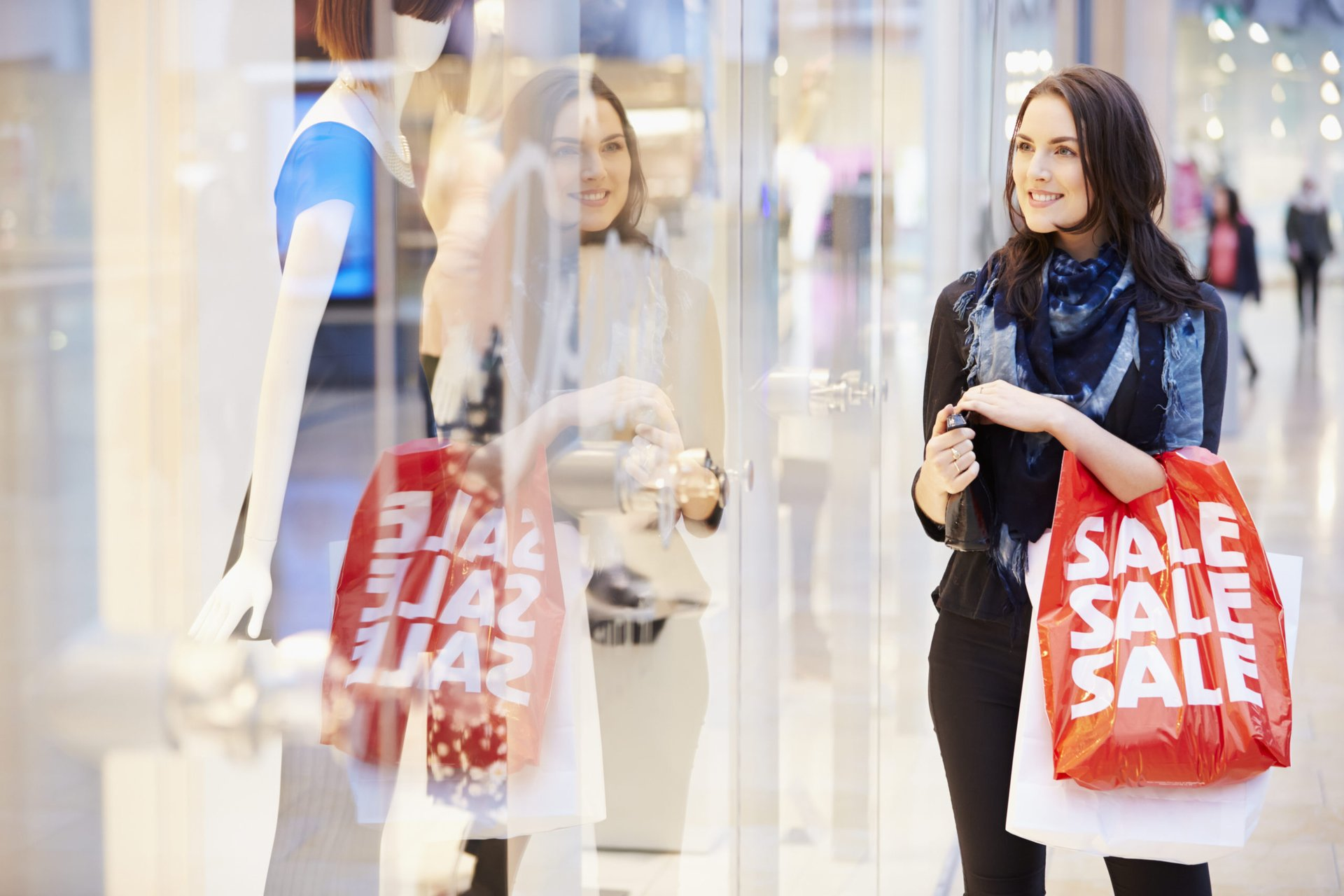 sale shopper with a credit card