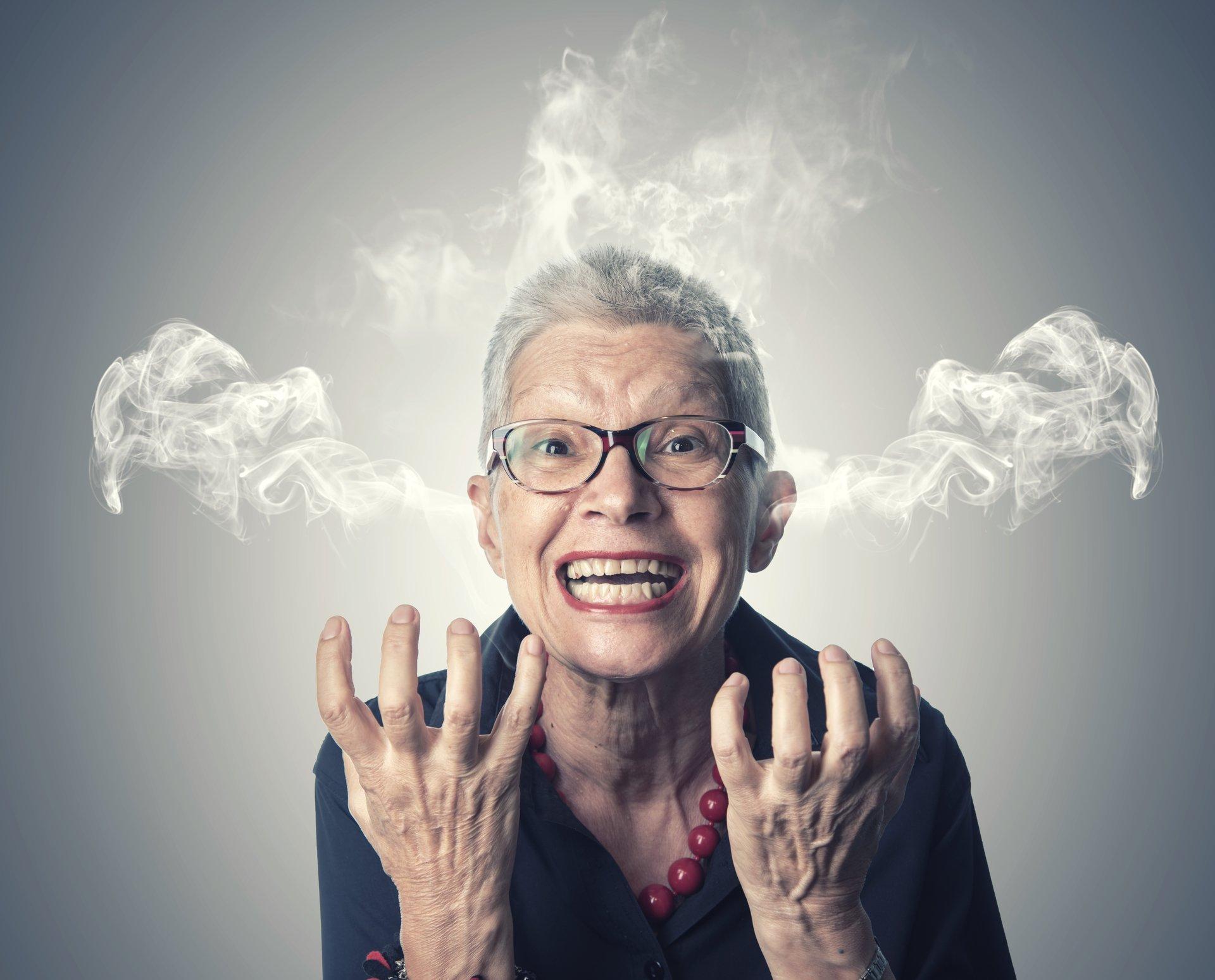 Senior Woman Angry