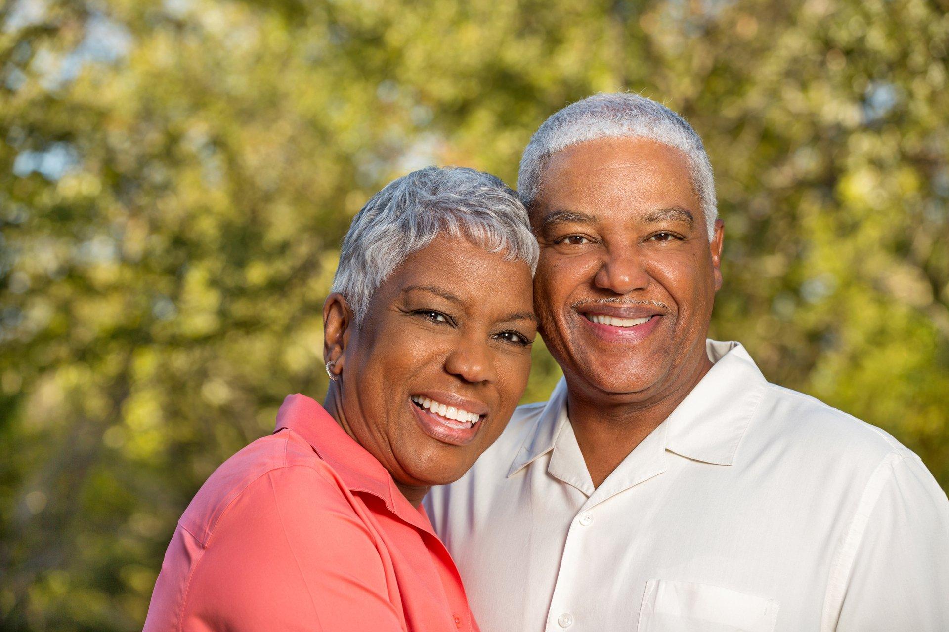 Senior black couple