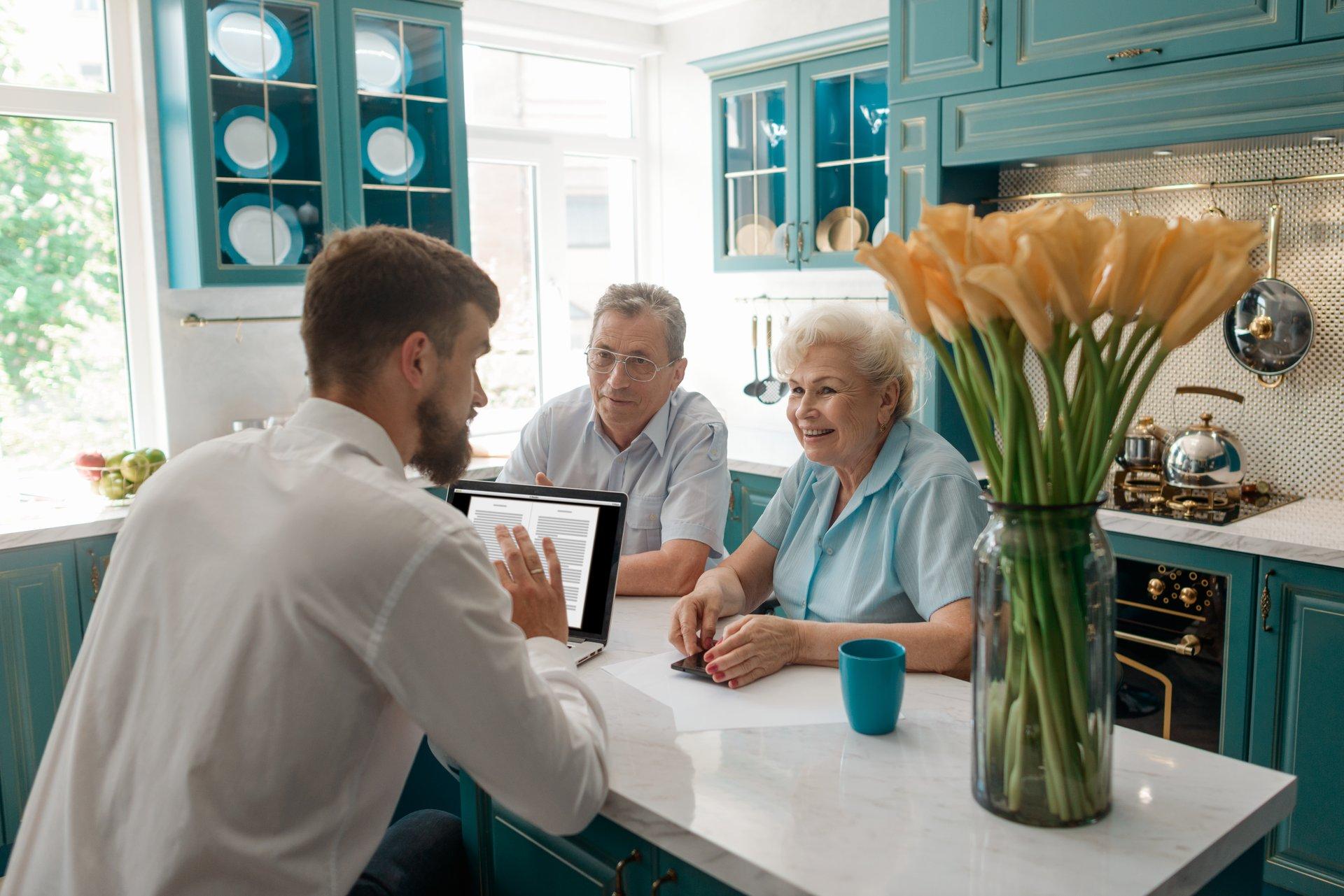 Elder Couple w Adviser