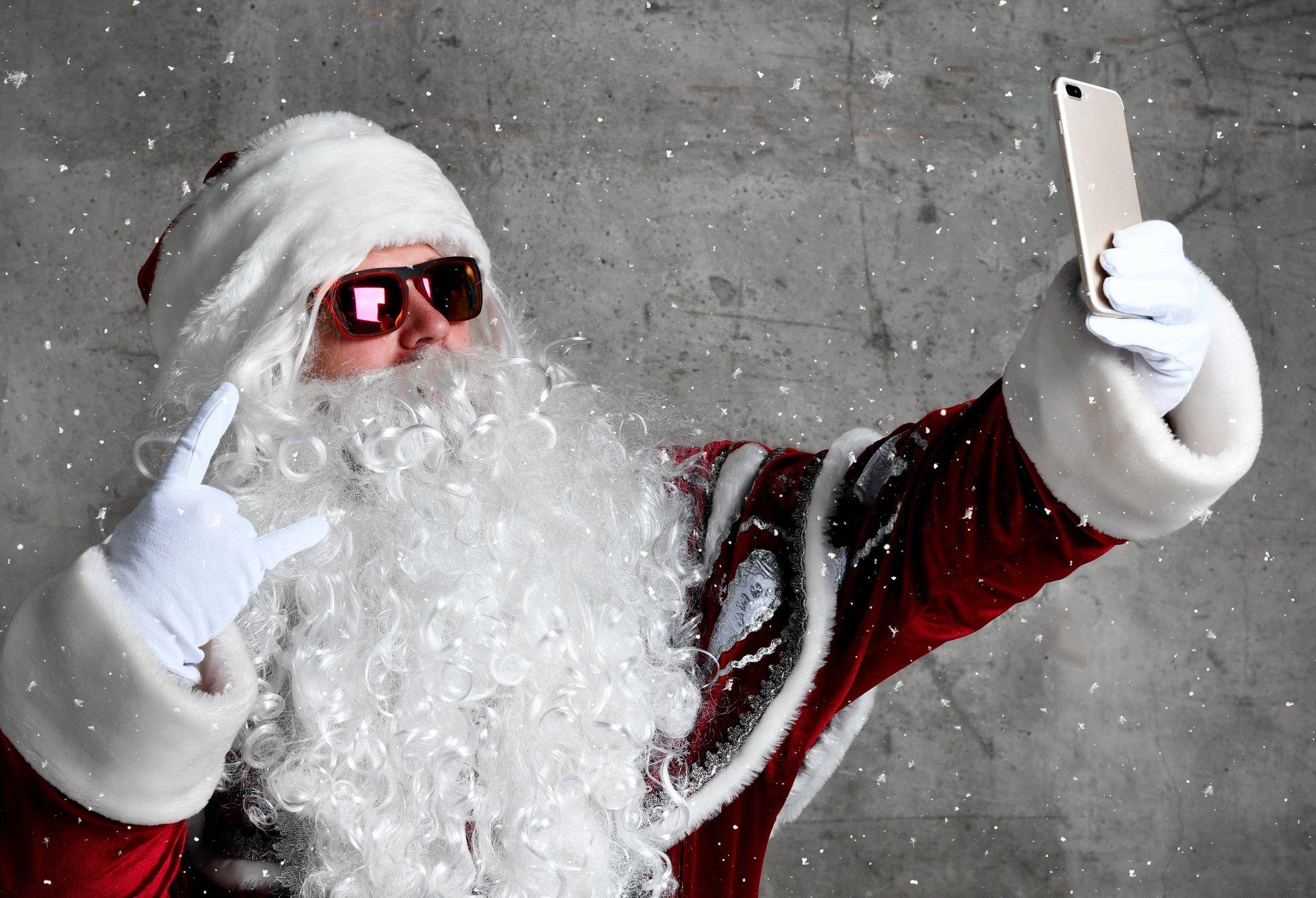 Santa taking a selfie