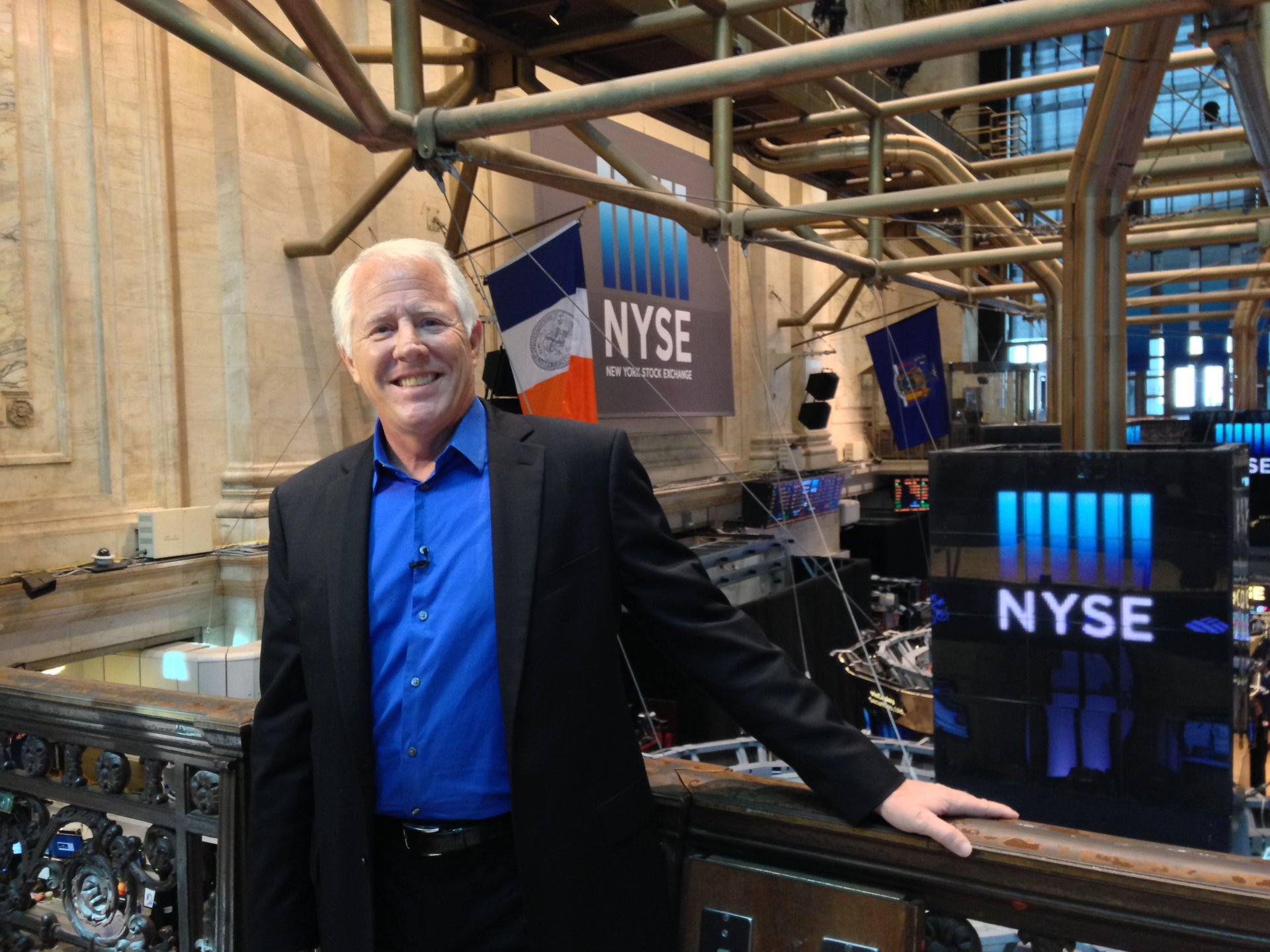 Stacy Johnson at the New York Stock Exchange