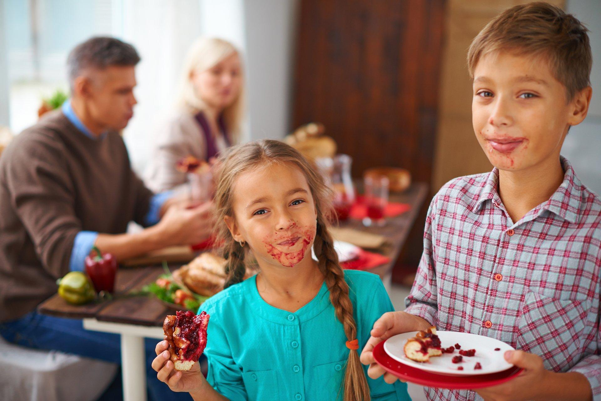 Kids with pie