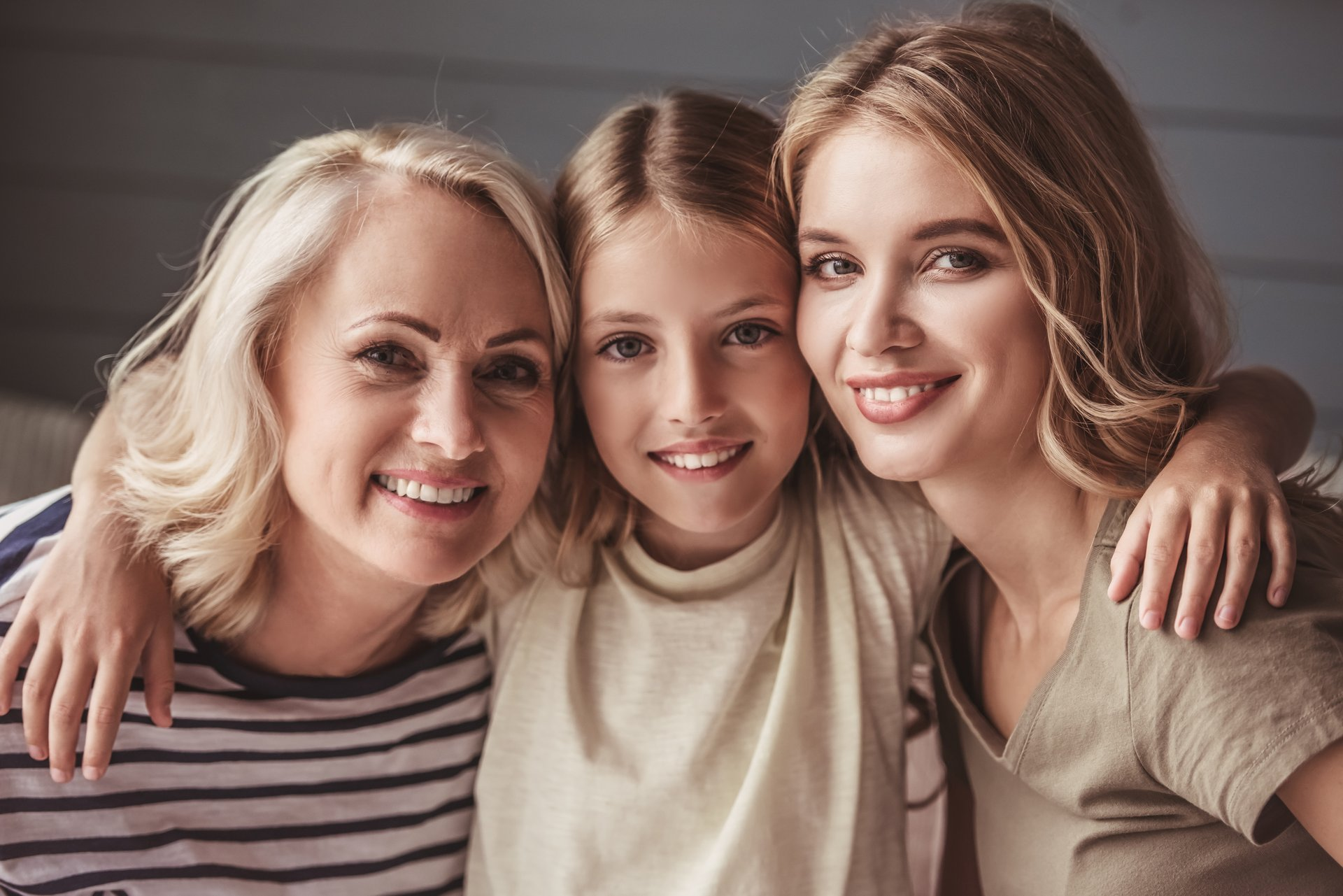 Grandmother, daughter and granddaughter