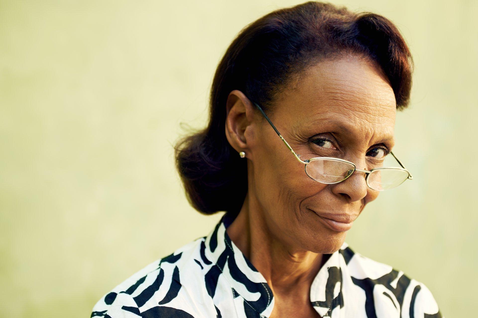 Older woman in eyeglasses