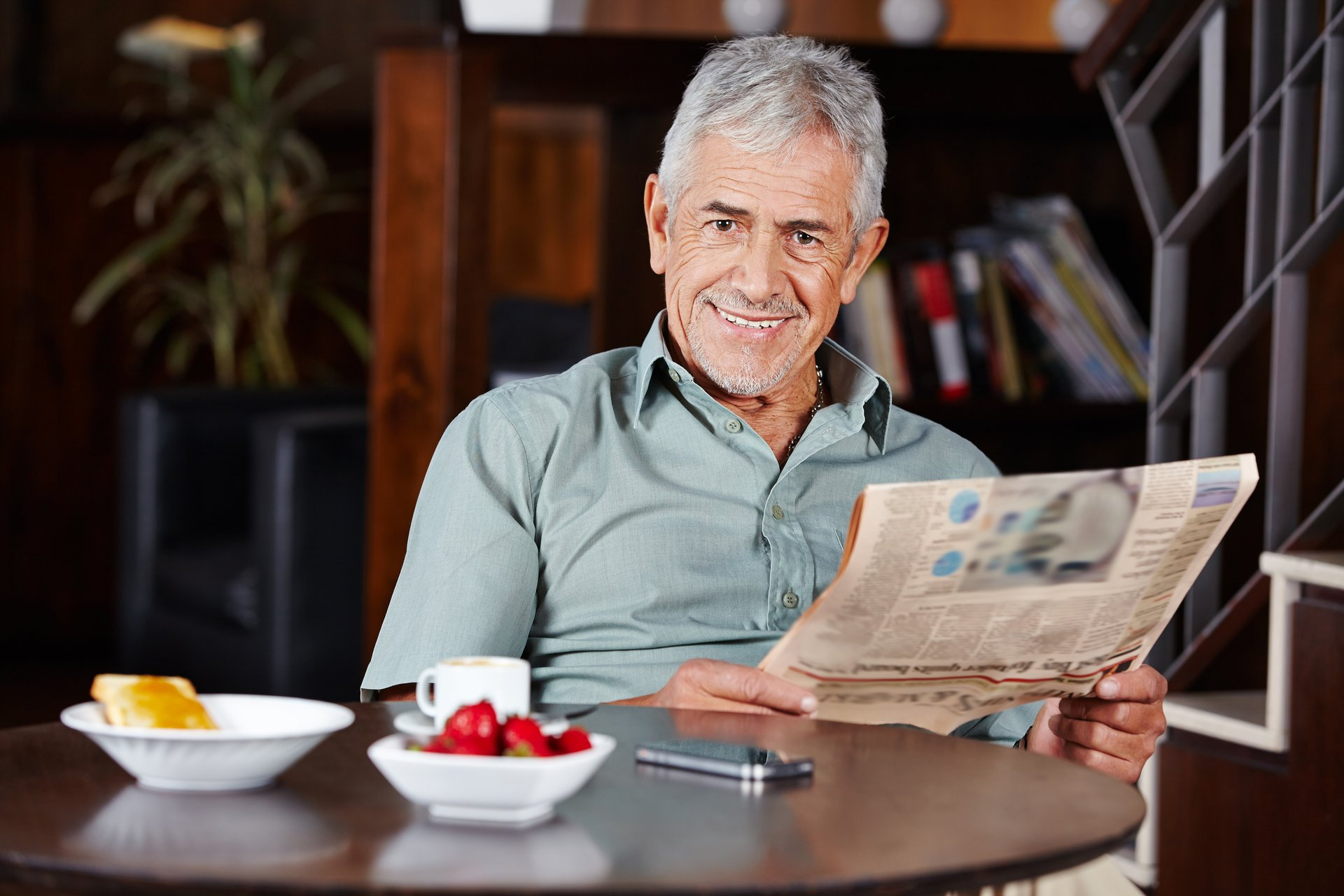 Happy retiree