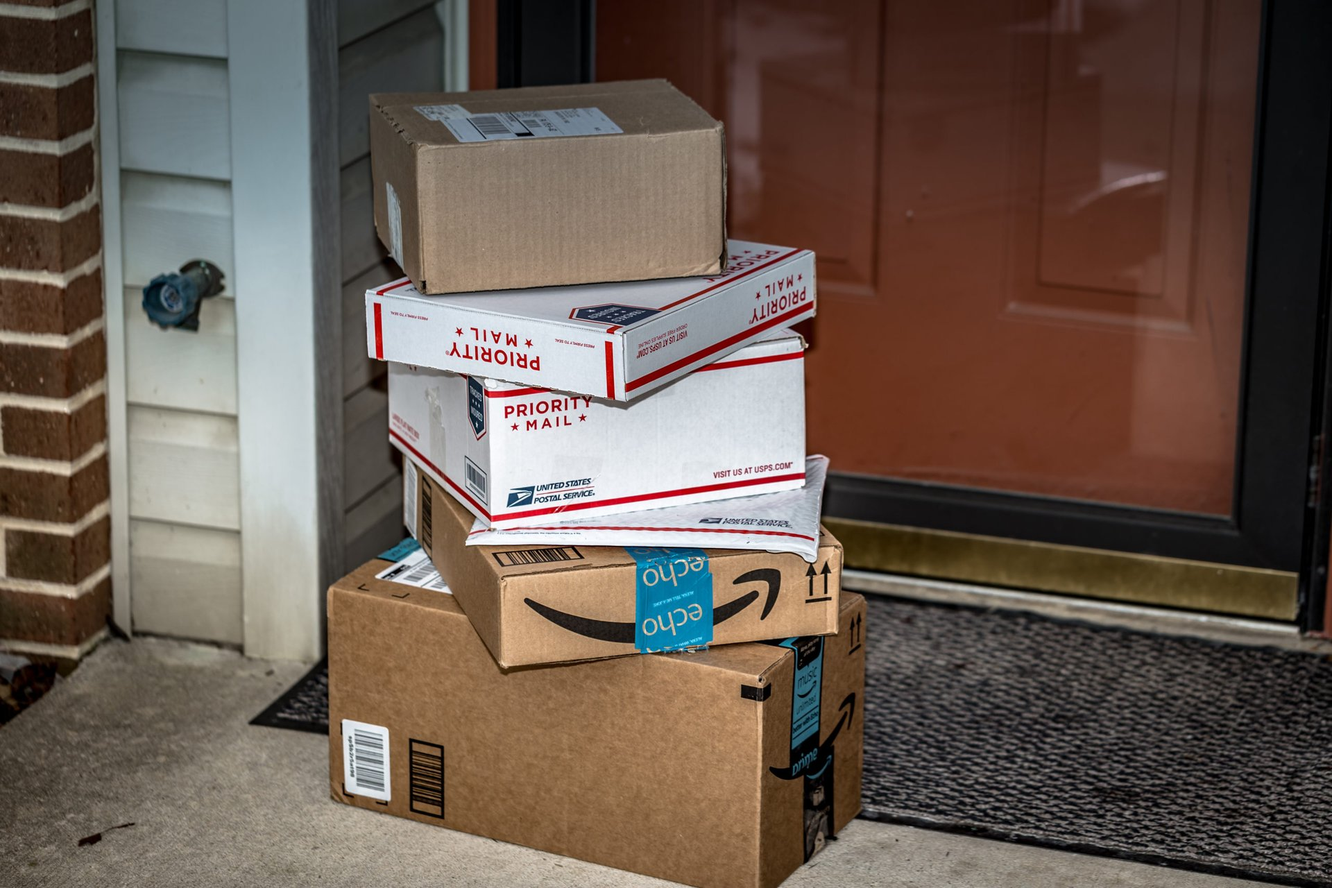 Packages delivered to a front door