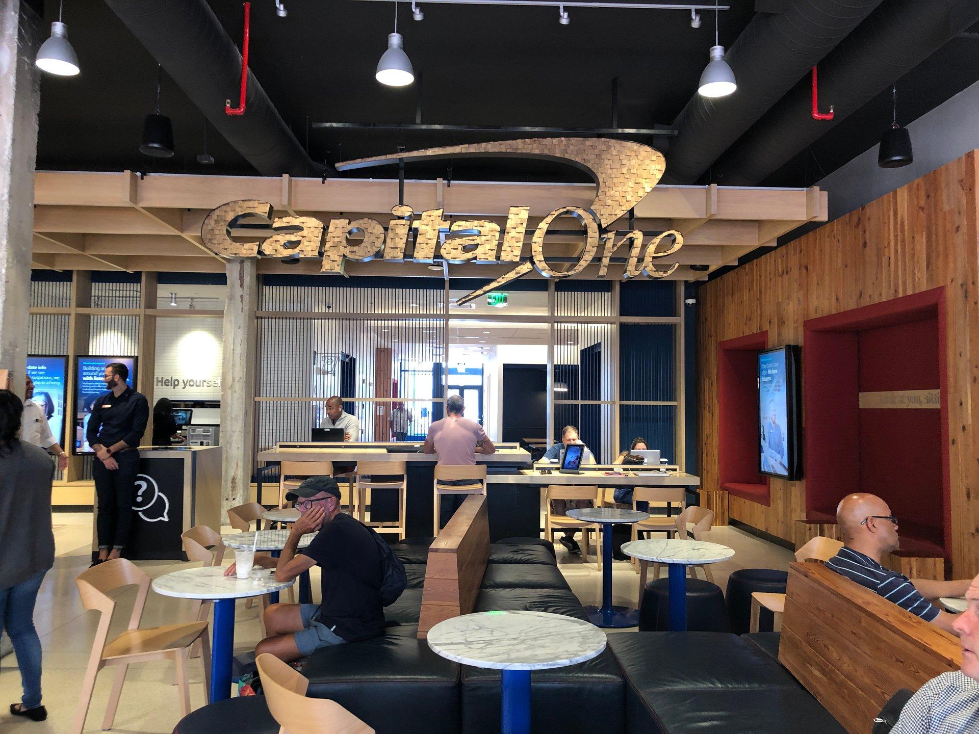 CapitalOne bank interior