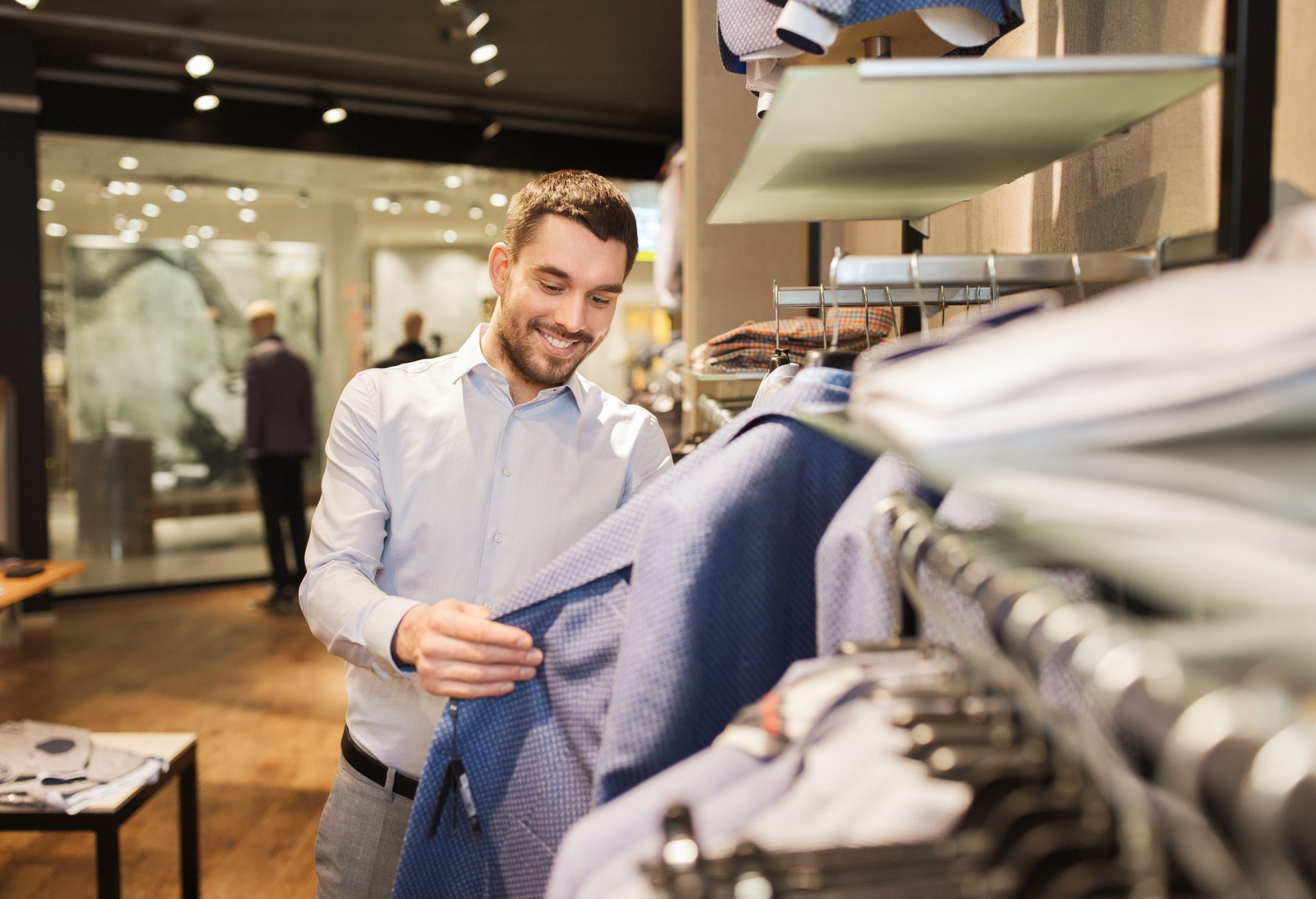 Man shopping for clothes