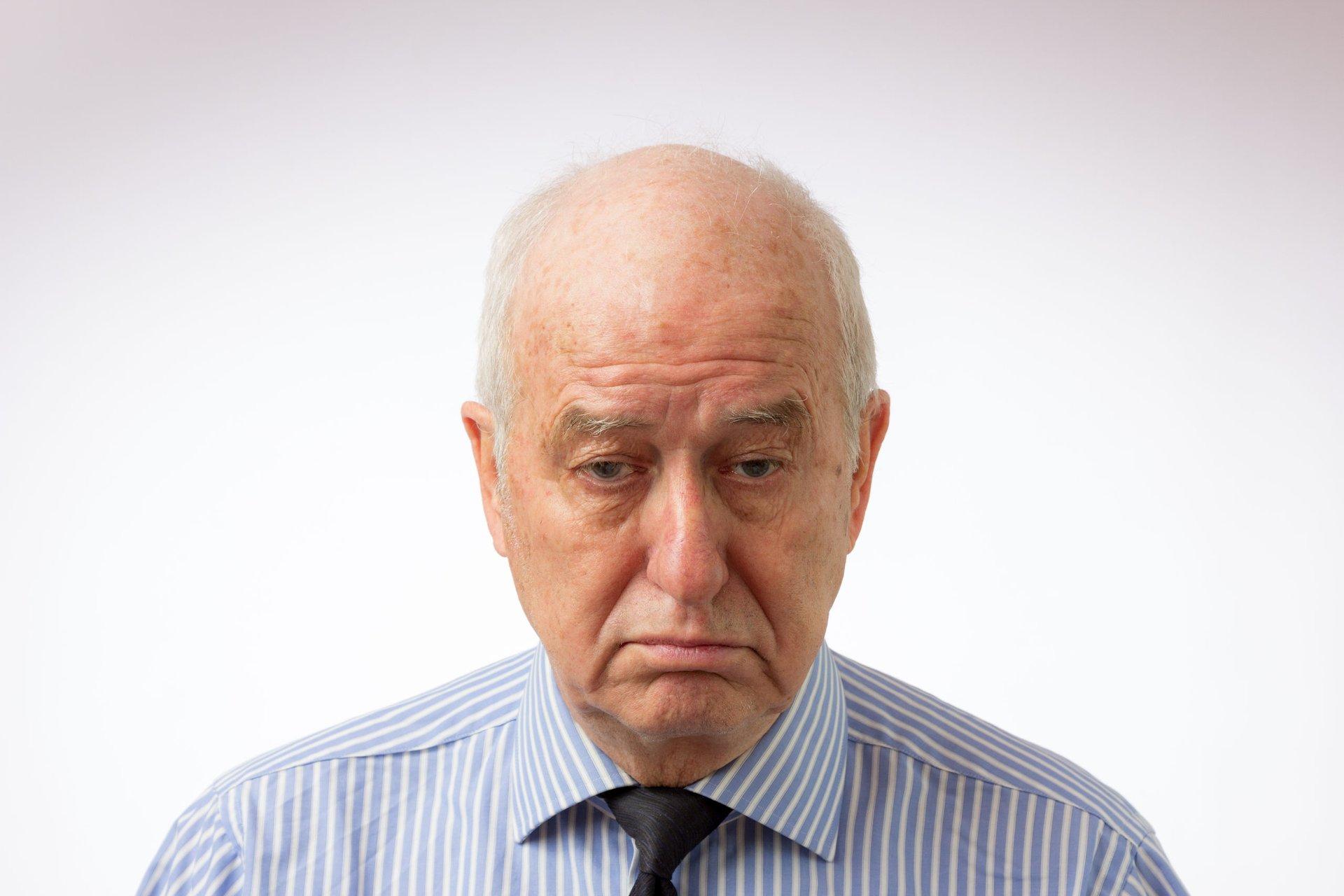 Sad senior